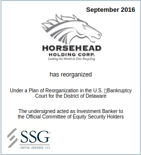 SSG Advises the Official Committee of Equity Security